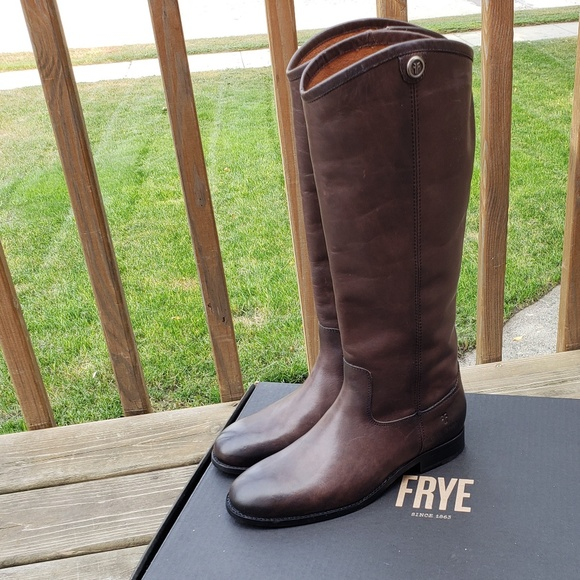 37826494be8 Frye Melissa Button 2 Riding Boots in Smoke